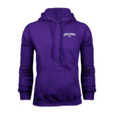 Purple Fleece Hoodie-Arched High Point University