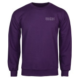 Purple Fleece Crew-Stacked High Point University