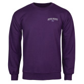 Purple Fleece Crew-Arched High Point University