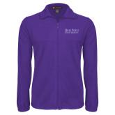 Fleece Full Zip Purple Jacket-Stacked High Point University