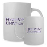 Full Color White Mug 15oz-Stacked High Point University