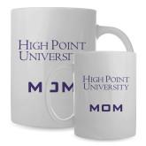 Mom Full Color White Mug 15oz-Stacked High Point University