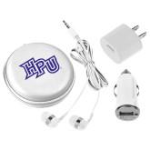3 in 1 White Audio Travel Kit-HPU