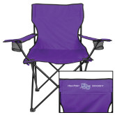 Deluxe Purple Captains Chair-High Point HPU University