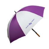 64 Inch Purple/White Umbrella-High Point HPU University