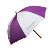 64 Inch Purple/White Umbrella-High Point University
