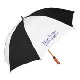 62 Inch Black/White Umbrella-Stacked High Point University