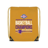 Gold Drawstring Backpack-2017 ASC Champions - Mens Basketball Stacked