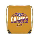 Gold Drawstring Backpack-2017 ASC Champs - Mens Basketball Half Ball