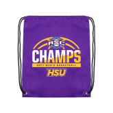 Purple Drawstring Backpack-2017 ASC Champs - Mens Basketball Half Ball
