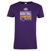 Ladies Purple T Shirt-2017 ASC Champions - Mens Basketball Stacked