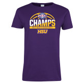 Ladies Purple T Shirt-2017 ASC Champs - Mens Basketball Half Ball