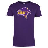 Ladies Purple T Shirt-Mens Basketball