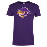 Ladies Purple T Shirt-Womens Basketball