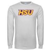 White Long Sleeve T Shirt-HSU