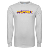 White Long Sleeve T Shirt-Hardin-Simmons Cowgirls