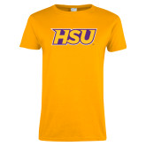 Ladies Gold T Shirt-HSU