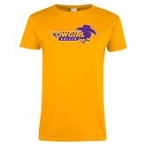 Ladies Gold T Shirt-Cowgirls Soccer