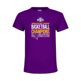 Youth Purple T Shirt-2017 ASC Champions - Mens Basketball Stacked