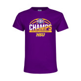Youth Purple T Shirt-2017 ASC Champs - Mens Basketball Half Ball