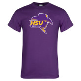 Purple T Shirt-Mens Basketball