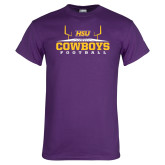 Purple T Shirt-Cowboys Football w/ Field