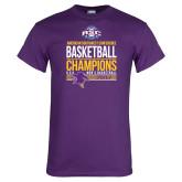 Purple T Shirt-2017 ASC Champions - Mens Basketball Stacked