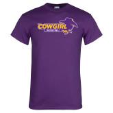 Purple T Shirt-Cowgirls Basketball