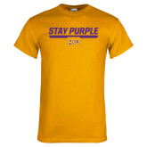 Gold T Shirt-Stay Purple