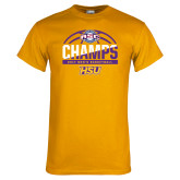 Gold T Shirt-2017 ASC Champs - Mens Basketball Half Ball