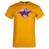 Gold T Shirt-Cowgirl Riding