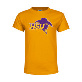 Youth Gold T Shirt-HSU Cowboy