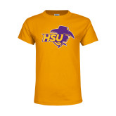 Youth Gold T Shirt-HSU Cowgirl