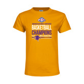 Youth Gold T Shirt-2017 ASC Champions - Mens Basketball Stacked