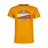 Youth Gold T Shirt-2017 ASC Champs - Mens Basketball Half Ball