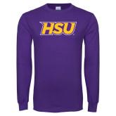 Purple Long Sleeve T Shirt-HSU