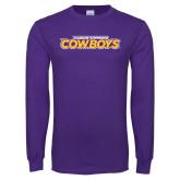 Purple Long Sleeve T Shirt-Hardin-Simmons Cowboys