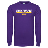 Purple Long Sleeve T Shirt-Stay Purple