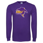 Purple Long Sleeve T Shirt-Mens Basketball
