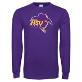 Purple Long Sleeve T Shirt-Mens Soccer