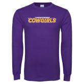 Purple Long Sleeve T Shirt-Hardin-Simmons Cowgirls