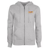 ENZA Ladies Grey Fleece Full Zip Hoodie-HSU