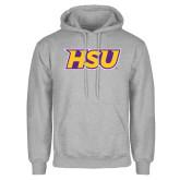 Grey Fleece Hoodie-HSU