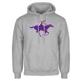 Grey Fleece Hoodie-Cowgirl Riding