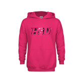 Youth Raspberry Fleece Hoodie-HSU Foil