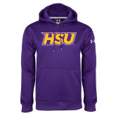 Under Armour Purple Performance Sweats Team Hood-HSU