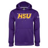 Under Armour Purple Performance Sweats Team Hoodie-HSU