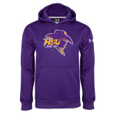 Under Armour Purple Performance Sweats Team Hood-Mens Basketball