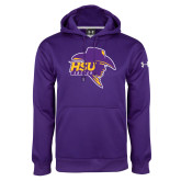 Under Armour Purple Performance Sweats Team Hood-Mens Soccer