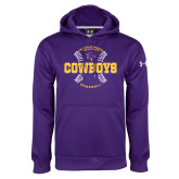 Under Armour Purple Performance Sweats Team Hoodie-HSU Cowboys Baseball w/ Seams